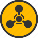 chemical weapon, chemistry, danger, toxic, warfare, warning, wmd nerve agent icon
