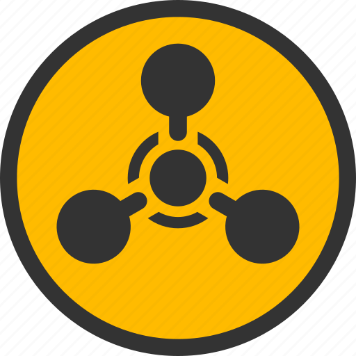Chemical weapon, wmd nerve agent, warfare, danger, warning, toxic, chemistry icon