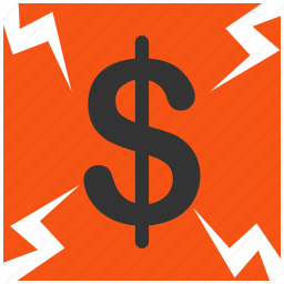 alarm, alert, attention, bank, banking, bankrupt, bankruptcy, business, cash, caution, crash, credit, damage, danger, dollar, exclamation, failure, finance, financial, hazard, money, payment, problem, protection, risk, safe, safety, tax, warning icon