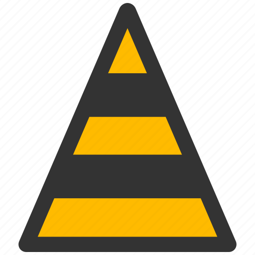 alarm, alert, attention, caution, cone, construction, damage, danger, exclamation, hazard, problem, protection, risk, road, safe, safety, temporary, warning icon