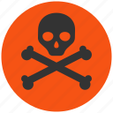 death, danger, dead, skull, alarm, alert, attention, caution, damage, exclamation, hazard, problem, protection, risk, safe, safety, warning, chemical, chemistry, eco, ecology, environment, industrial, poison, toxic