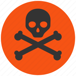 alarm, alert, attention, caution, chemical, chemistry, damage, danger, dead, death, eco, ecology, environment, exclamation, hazard, industrial, poison, problem, protection, risk, safe, safety, skull, toxic, warning icon