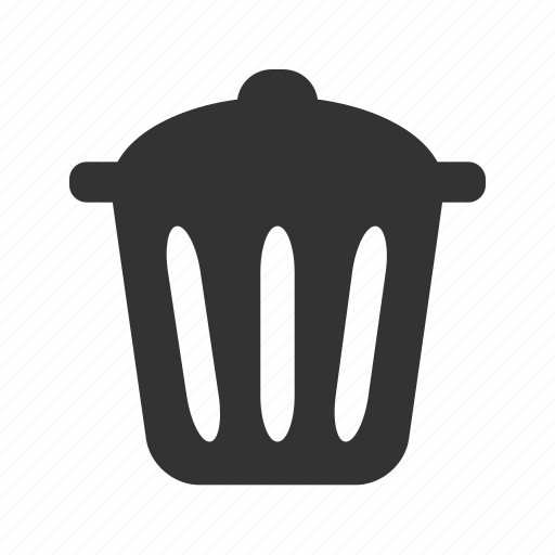 bin, delete, remove, trash icon