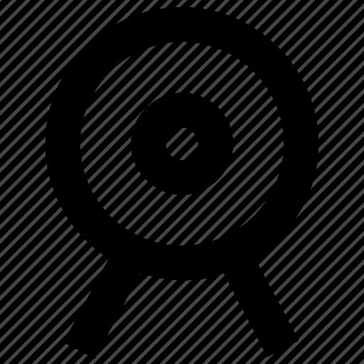 aim, crosshair, dartboard, objective icon