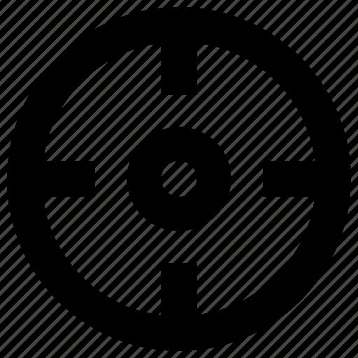 aim, crosshair, focus, goal icon