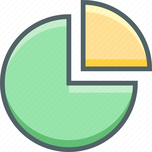 chart, circle icon