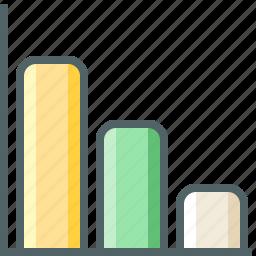 chart, column, decrease icon
