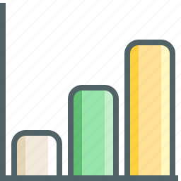 chart, column, increase icon