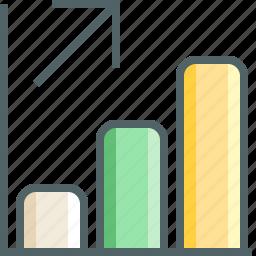 arrow, chart, column, increase icon