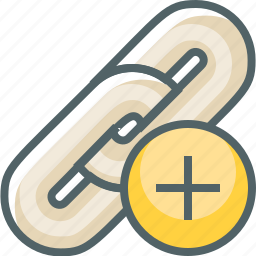 add, hyperlink icon