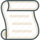 list, paper, script