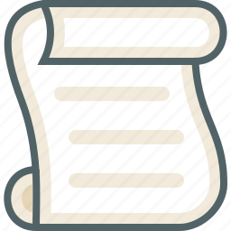list, paper, script icon