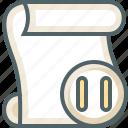 paper, pause, script icon