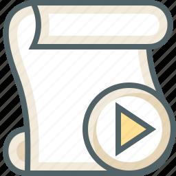 paper, play, script icon