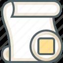 paper, script, stop icon