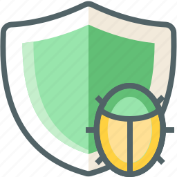 bug, shield icon
