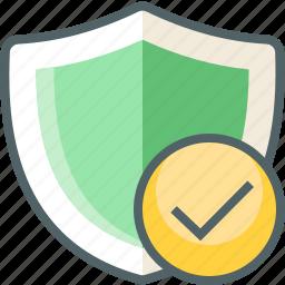 check, shield icon