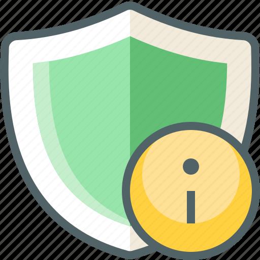 info, shield icon