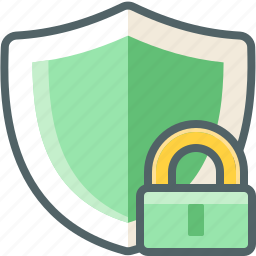lock, shield icon
