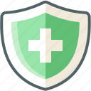 medicine, shield icon