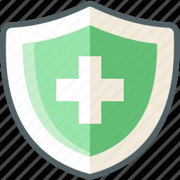 medicine, shield icon
