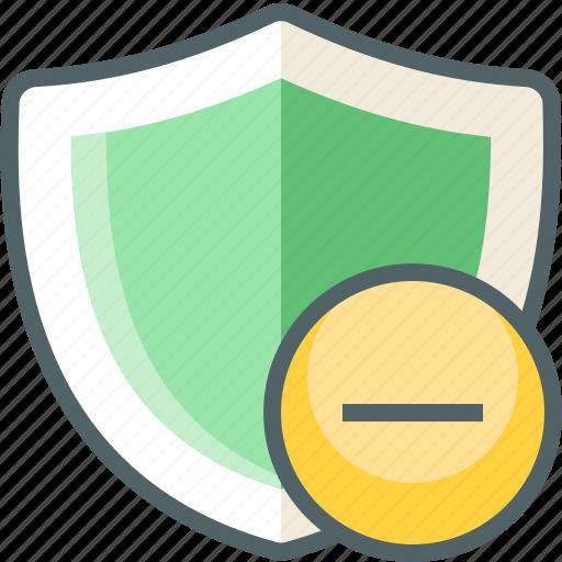 remove, shield icon