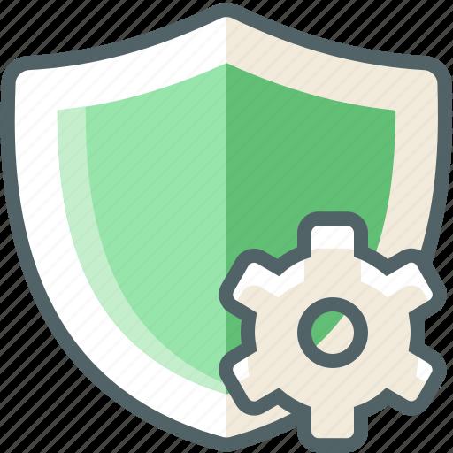setting, shield icon