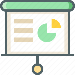chart, circle, show, slide icon