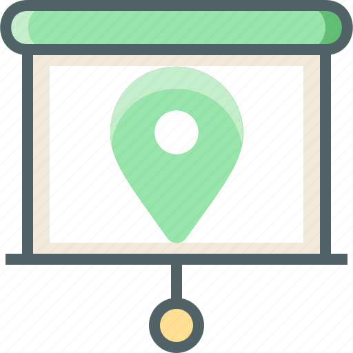 circle, location, show, slide icon