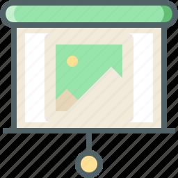 image, show, slide icon