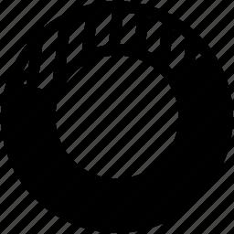 doghnut, doghnut chart, statistics icon