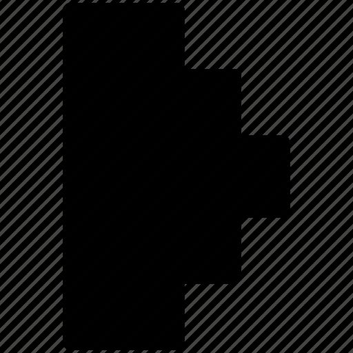 chart, histogram, horizontal chart icon