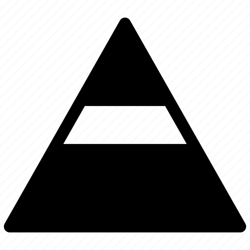 analysis, chart, pyramide, pyramide chart icon