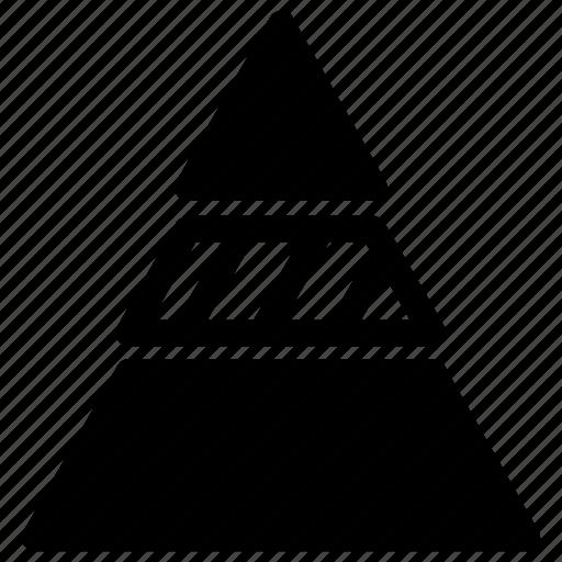 analysis, pyramide, statistics icon