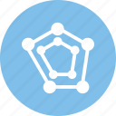 analysis, chart, graph, spider, statistics icon