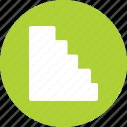 bar chart, bars, histogram, horizontal icon