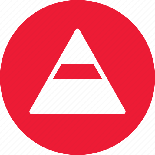 data, data analysis, pyramide, statistics icon