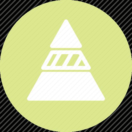 chart, data, graph, pyramide, statistics, triangle icon