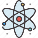 chemistry, data, education, physics, science, solution, technology icon