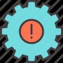 alert, attention, business, cogwheel, gear, mechanism, notification