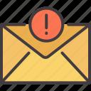 alert, business, internet, mail, message, notification, online icon