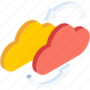 cloud, cloudy, data, database, forecast, server, storage icon