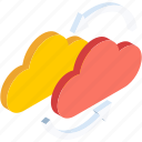 cloud, database, forecast, server, snow, storage, weather icon