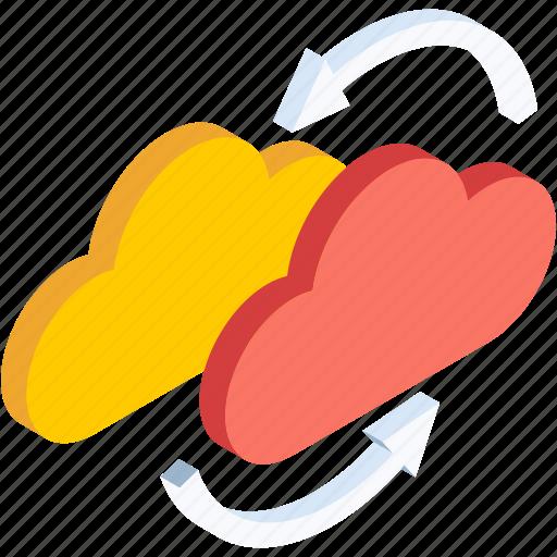 cloud, database, forecast, server, snow, storage, weather icon