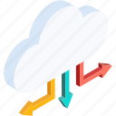 cloud, connection, internet, network, server, storage, weather icon