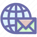 .svg, earth, global, letter, mail, world, world letter icon