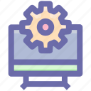 .svg, gear, monitor setting, options, setting, setup, system setting icon