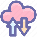 ftp, cloud, network, connection, download, upload icon