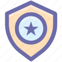 .svg, favorite, police badge, secure, security, shield, star icon