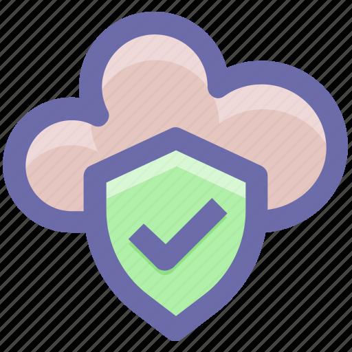 .svg, accept, cloud, cloud accept, protection, secure, security icon